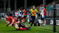 Darren Sweetnam scores a try that is later disallowed  1/11/2020