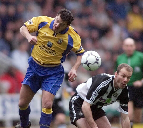 Southampton's Jason Dodds (left) clashes for the ball with Newcastle United's Alan Shearer, during their FA Barclaycard Premiership match back in 2002. In a recent BBC documentary, Shearer investigated brain injuries within football.