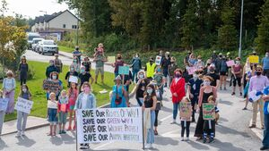 Locals protest over plan to divert woodland corridor
