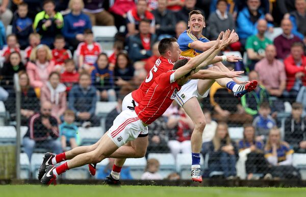 Tipperary's Conor Sweeney kicks a point in 2017. He has done well against Cork in recent games. Picture: INPHO/Tommy Dickson
