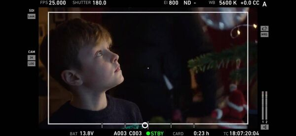 Behind the scenes of the SuperValu Christmas ad. Picture credit: Ger Kearney.