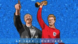 Cork artist 'blown away' by the reaction to his commemorative illustration of Jack Charlton