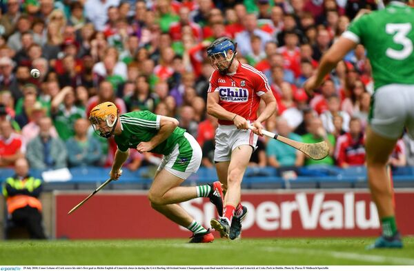 Conor Lehane drills in a goal. Picture: Piaras Ó Mídheach/Sportsfile