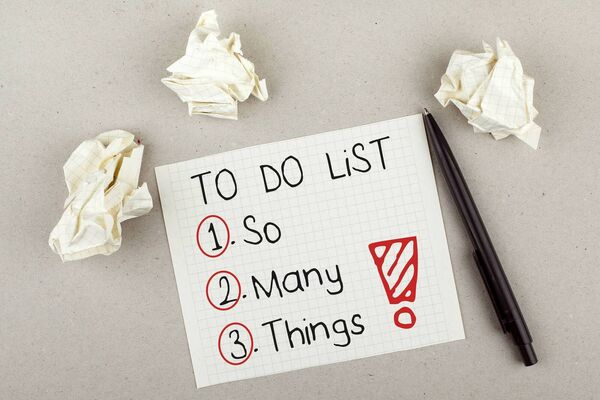 You have a to-do-list - but why not put them in order of priority, in a bid to get something done. Picture: Stock