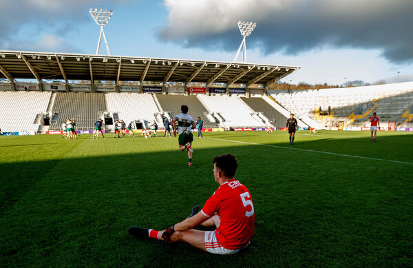 Disappointment for Tadhg Corkery. Picture: INPHO/James Crombie