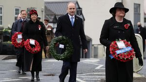Taoiseach lays wreath for Remembrance Day in Enniskillen