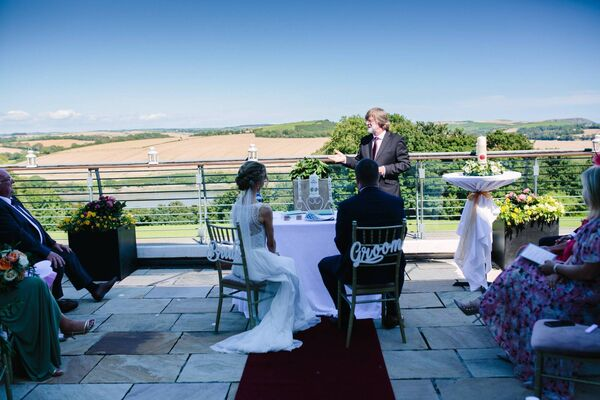 The couple enjoyed a civil ceremony at the Kinsale Hotel and Spa.
