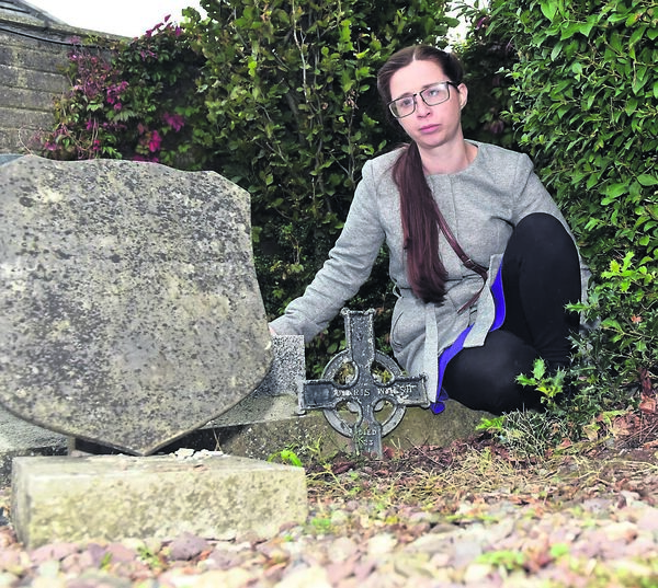 Maureen Considine at the grave of Anne (Doris) Walsh at St Joseph's Cemetery, Ballyphehane.	Picture: Eddie O'Hare