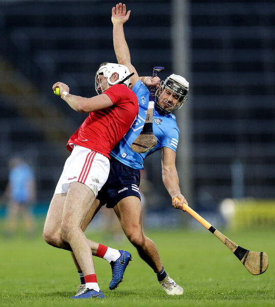 Cork's Tim O'Mahony and Cian Boland of Dublin. Picture: INPHO/Laszlo Geczo