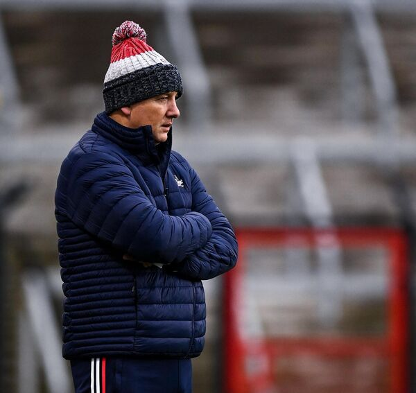 Cork manager Ronan McCarthy will hope his side will put it up to Kerry on Sunday. Picture: Sportsfile