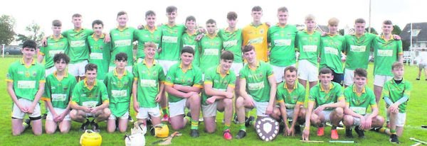 The Cobh U16s who won the Division 1 Rebel Óg East hurling final recently, defeating Watergrasshill by 6-18 to 5-17 after extra time.