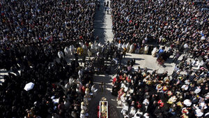 Huge crowd attends Montenegro funeral of bishop who died with coronavirus
