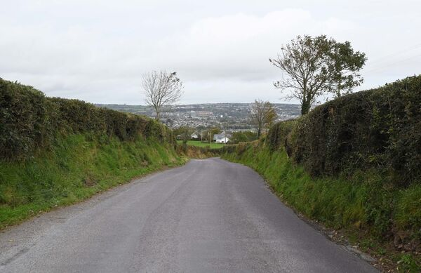 A section of the road in the Lehenaghmore area.