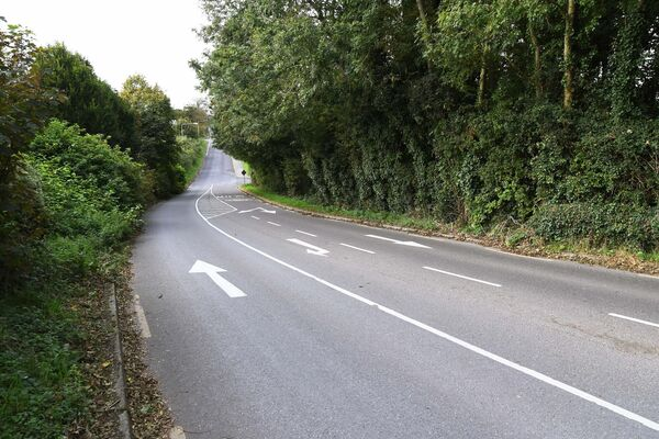 A section of the road at Matthew Hill in the Lehenaghbeg/Lehenaghmore area.