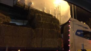 Truck stuck under railway bridge in Cork