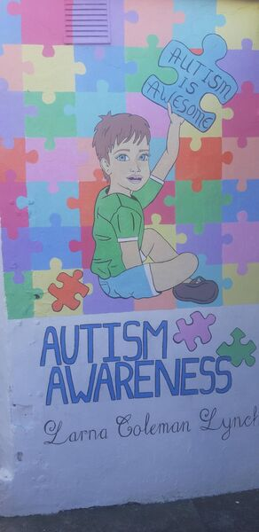 The murals had important messages on autism awareness, as well as mental health.