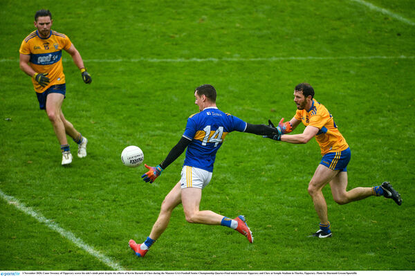 Conor Sweeney scores a point for Tipp. Picture: Diarmuid Greene/Sportsfile