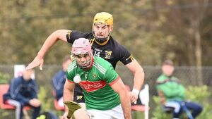 Clonakilty lead for the off to defeat Kinsale junior hurlers