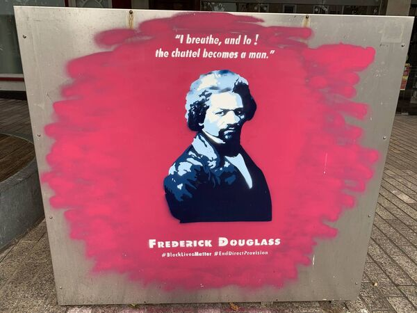 The tribute to Frederick Douglass