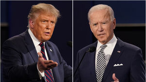 Trump and Biden cede stage to voters for election day verdict