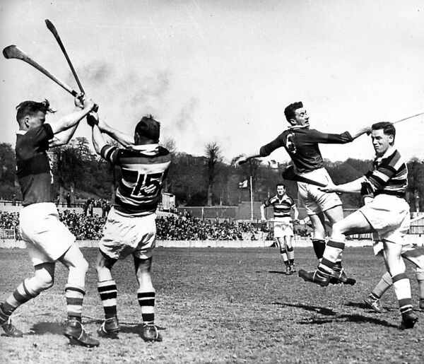 Christy Ring in action for Glen Rovers in 1967.