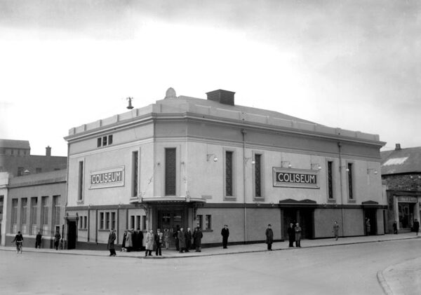 View of the old Coliseum cinema, MacCurtain Street, 1953.