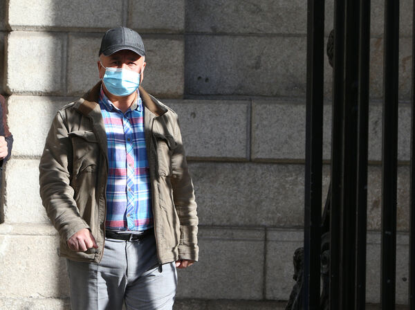 Hagi Taha Barwari pictured leaving the high court in Dublin Following a settlement over the death of his wife at Mercy University Hospital in Co Cork