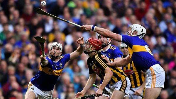 Tipp's Brendan Maher and Pádraic Maher try to gather possession for James Maher in last season's All-Ireland hurling final. Picture: Piaras Ó Mídheach/Sportsfile