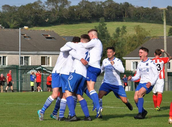 Joy for Leeds AFC after scoring a goal before the season was halted due to Covid.
