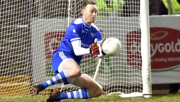 Anthony Seymour saves a penalty. Picture: Eddie O'Hare