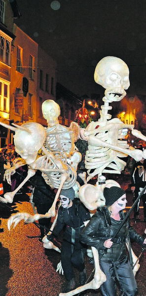 MODERN TWIST: Last year's Dragon of Shandon parade