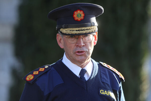 Garda Commissioner Drew Harris at Garda Headquarters, Phoenix Park, Dublin, during a press briefing outlining An Garda Siochana's policing plan to support Level 5 lockdown measures in Ireland.