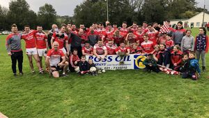 Uibh Laoire footballers complete three in a row in the Ross Oil Muskerry JAFC