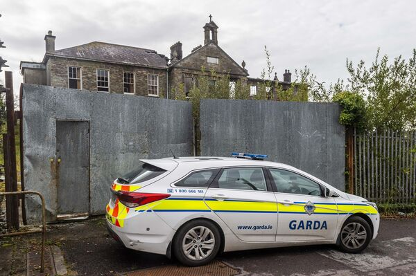 Gardai investigated the major fire at the old convent in Skibbereen which destroyed a portion of the building. Picture: Andy Gibson.
