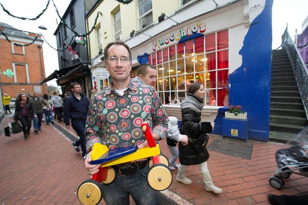 Wyon Stansfeld of Pinocchios toy shop on Paul Street, Cork. Picture Dan Linehan