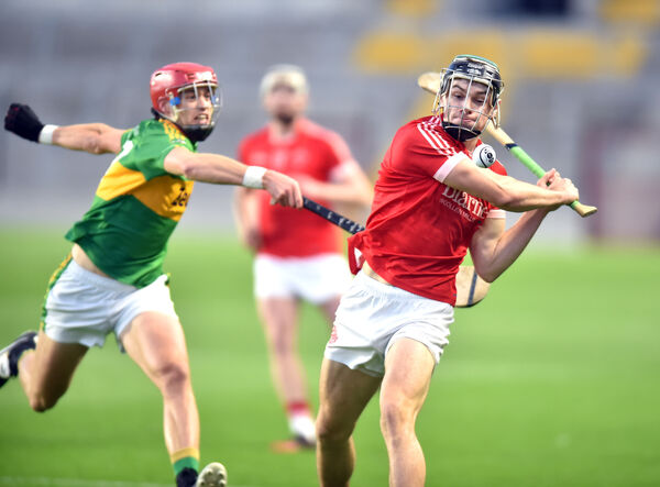 Blarney's Mark Coleman shoots from Castlelyons Colm O'Neill. Picture: Eddie O'Hare