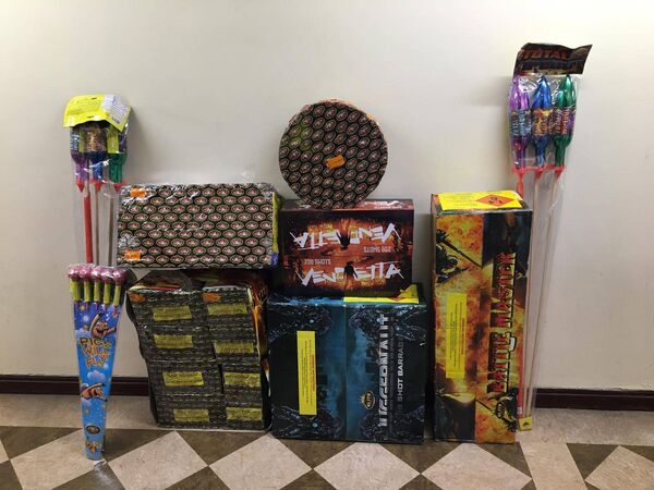 During the course of the search Gardaí seized €88,000 of cash and a quantity of fireworks in Tallaght.