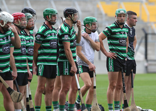 Eoin Cadogan, Douglas with his teammates. Picture: Jim Coughlan.