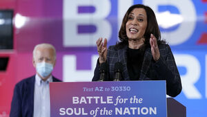 Joe Biden and Kamala Harris head for Republican strongholds one week before poll