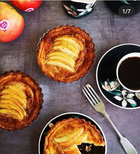 Apple and Cinnamon Custard Tarts For the pastry by Karen Coakley