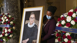 Ruth Bader Ginsburg becomes first woman to lie in state at US Capitol