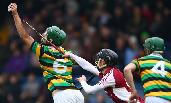 Glen Rovers' Brian Moylan and Kevin Maher of Borris-Ileigh battle last winter. Picture: INPHO/James Crombie