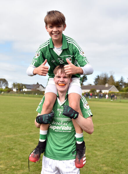 Killeagh/St Ita's Sean Lynch and Cian O'Riordan celebrate. Picture: Eddie O'Hare