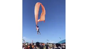 Three-year-old girl lifted into air by kite in Taiwan