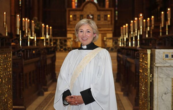 Pictured is Sabrina Cooke, newly ordained Deacon, at The Ordination of Deacons by the Right Rev. Dr. Richard Clarke, at the request of The Bishop of Cork Cloyne and Ross, at Saint Fin Barre's Cathedral, Cork. Picture: Jim Coughlan.