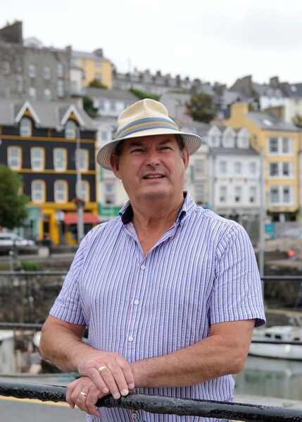 Dr. Michael Martin, author and creator of the Titanic Trail in Cobh, Co. Cork, pictured in Cobh.