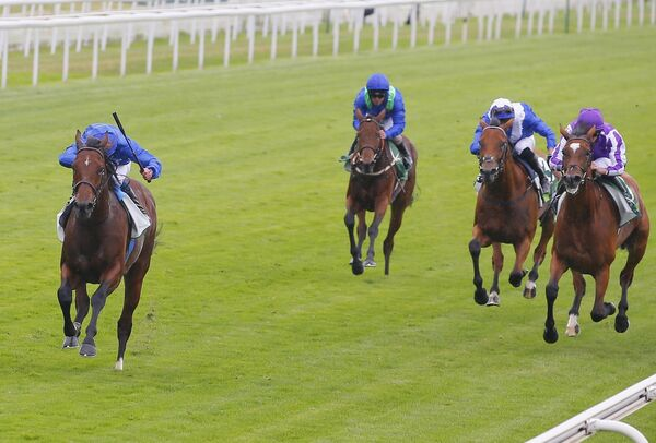Ghaiyyath and William Buick wins for trainer Charlie Appleby. Picture: Healy Racing.