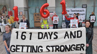Watch: Former Vita Cortex workers join Debenhams staff picket as industrial dispute becomes longest-running in Irish history