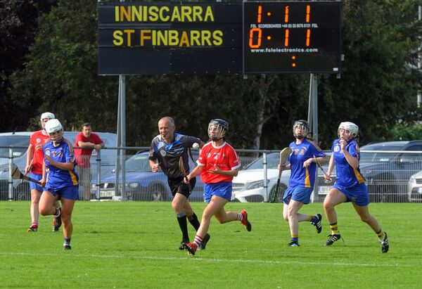 Aoife Kavanagh of Inniscarra racing downfield with the sliotar. Picture: Denis Minihane.