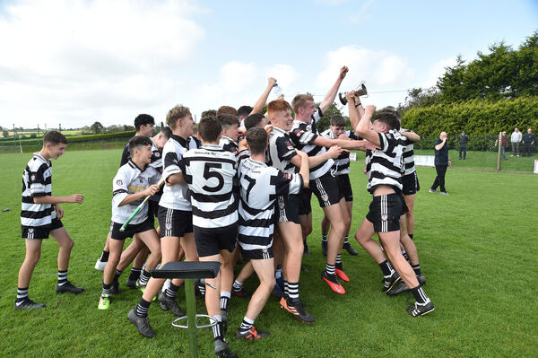 The Midleton team celebrate their victory over Bride Rovers after their U16 P1 hurling championship final at Lisgoold. Picture: Dan Linehan